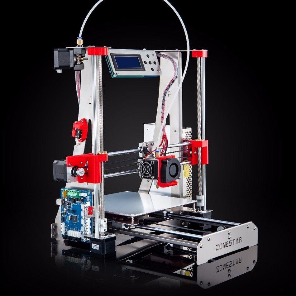 En option double extrudeuse couleur mixte entièrement métal Reprap i3 3D imprimante kit de bricolage nivellement automatique facile assembler livraison de carte SD gratuite