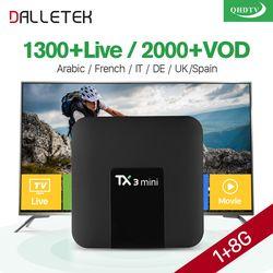 TX3 mini boîte IPTV Android 7.1 S905W avec QHDTV IPTV Arabe France 1 année IPTV Abonnement ROYAUME-UNI Français Arabe Belgique Néerlandais IP TV
