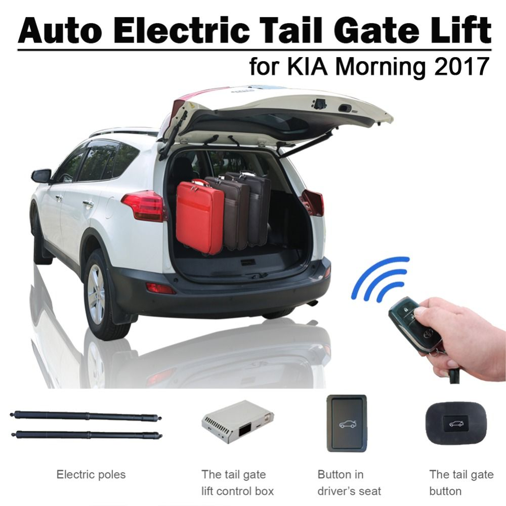 Smart Auto Electric Tail Gate Lift for Kia Morning 2017 Remote Control Drive Seat Button Control Set Height Avoid Pinch
