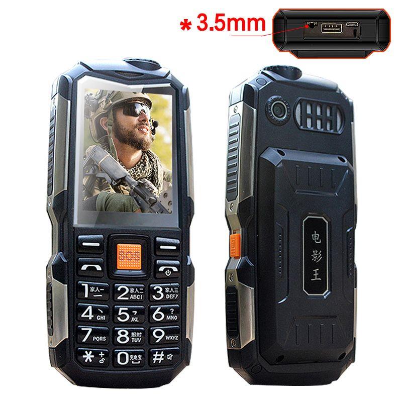 L18 <font><b>shockproof</b></font> 3.5mm earphone jack power bank flashlight SOS speed dial wireless FM radio rugged senior mobile phone P033