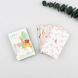 28 Pcs/pack Guérir la forêt Carte De Voeux Mini LOMO Carte Postale D'anniversaire Lettre Enveloppe Cadeau Carte Ensemble Message Carte M0508