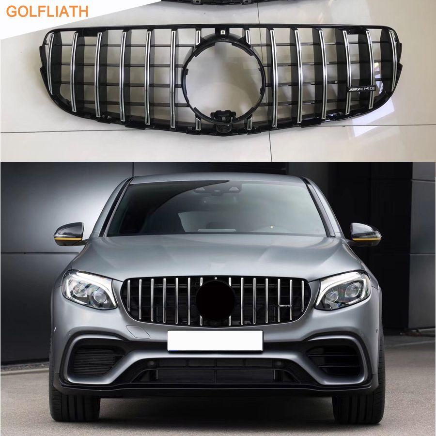 GOLFLIATH AMG Front grille mitte grill für 2014-2017 Mercedes benz W253 X253 GLC GLC200 GLC250 GLC300 Sport glC450 GLC63 grille
