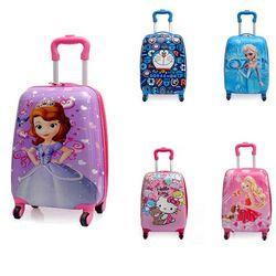 Bande dessinée enfants PVC chariot cas enfants bagages bande dessinée 18 pouce enfant valise jouet garçon fille
