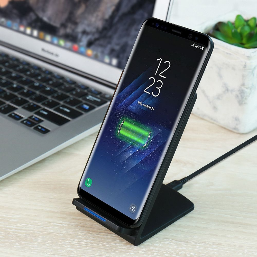 FLOVEME Wireless Fast Charger For Samsung Galaxy Note 8 S8 Plus Desktop Dock Wireless Charging For iPhone X 8 Plus Accessories
