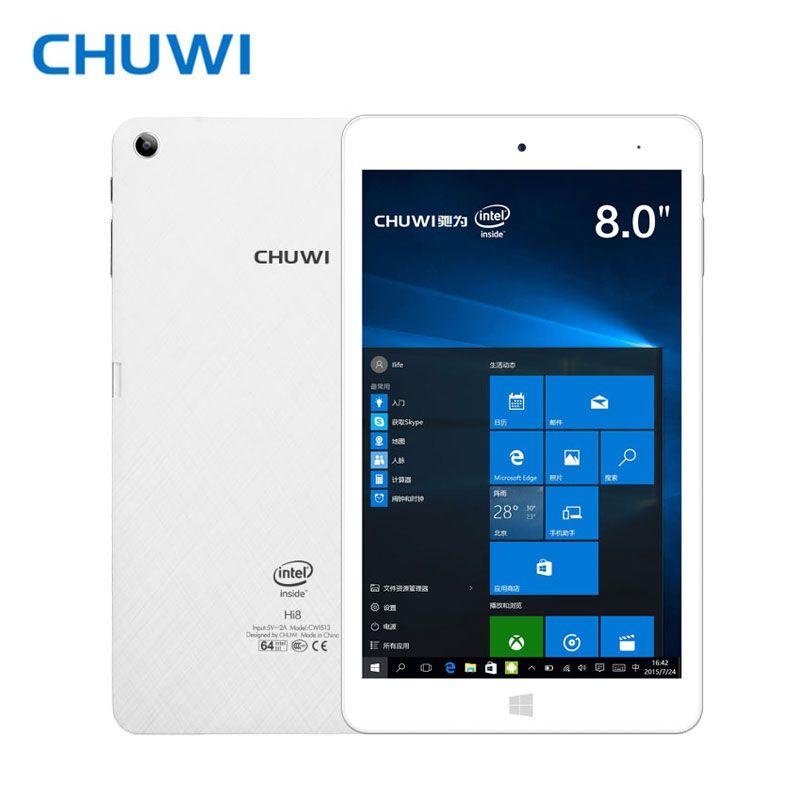 CHUWI Officiel! CHUWI Hi8 Pro Double OS Tablet PC Windows 10 Android 5.1 Intel Atom X5-Z8350 Quad core 2 GB RAM 32 GB RAM 1920x1200