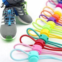Lacets Unisexe Élastique Lacets Pour Hommes Femmes Tous Les Sneakers Fit Bracelet Sport Chaussures Réfléchissant Boucle paresseux lacets de verrouillage blanc