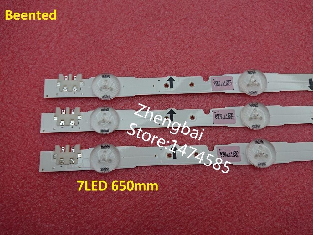 (Nouveau Kit) 3 pièces 7LED 65cm LED bande de rétro-éclairage pour samsung UE32H4290AU 2014SVS32HD D4GE-320DC0-R3 BN96-35208A 30448A 30446A 30445A