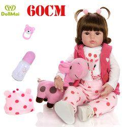 Reborn Balita Gadis Boneka 58 Cm Silikon Reborn Boneka Bayi Vinyl Putri Bayi L. o. L Boneka Kejutan Hadiah untuk Anak