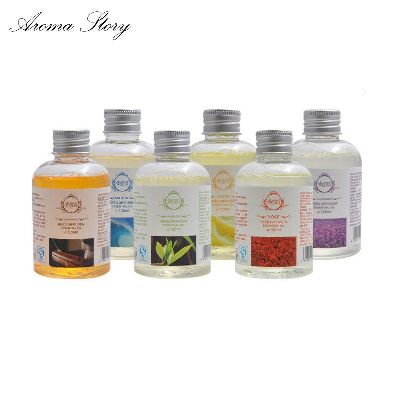 120 ml Reed Diffuseur Aromathérapie Désodorisant Voiture Parfum Régénérateur 6 parfums Santal Rose Greentea Lavande Océan Lemon