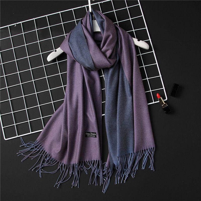 2018 new winter women scarf fashion solid double-side soft <font><b>cashmere</b></font> scarves shawls and wraps bandana female foulard Tassel