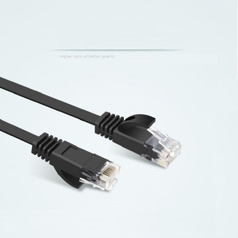 50 unids 50 cm = 0.5 M 2ft cable de cobre puro CAT6 Flat utp cable de red Ethernet RJ45 parche LAN cable BLANCO/color negro