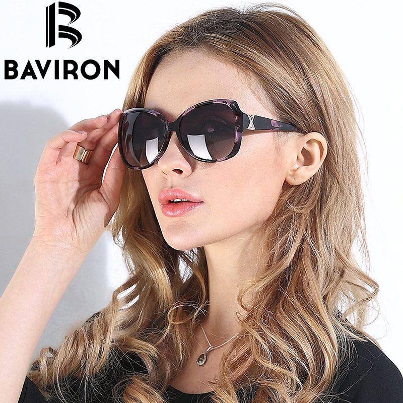 BAVIRON City yeux tortue lunettes de soleil femmes verres polarisés lunettes rétro lunettes de soleil Style dégradé couleurs rayons UV400 Oculos