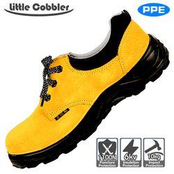 Pria Wanita Sepatu Safety Kaki Baja Non-Slip Tahan Suhu Tinggi Tahan Tusukan Kulit Poliuretan Sol Karet