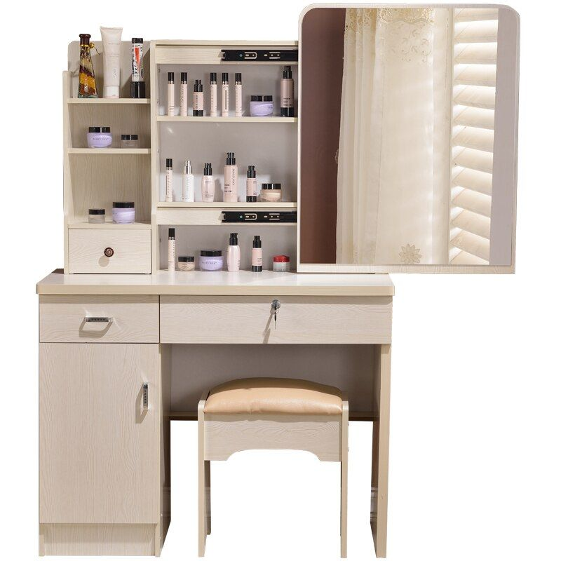 New dresser bedroom make-up table simple modern small mini-size vanity storage box