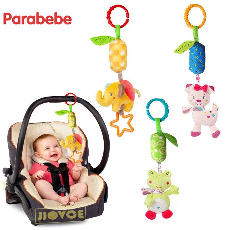 Cute Baby Stroller Accessories Hand Bell Baby Hanging Toy For Pram Car Seat Accessories Child Bed Safety Seat Rattles Kids Gifts