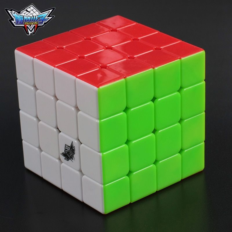 4x4x4 Cyclone garçons Cube magique Puzzle Cubes vitesse Cubo carré Puzzle aucun autocollant arc-en-ciel cadeaux jouets éducatifs pour les enfants