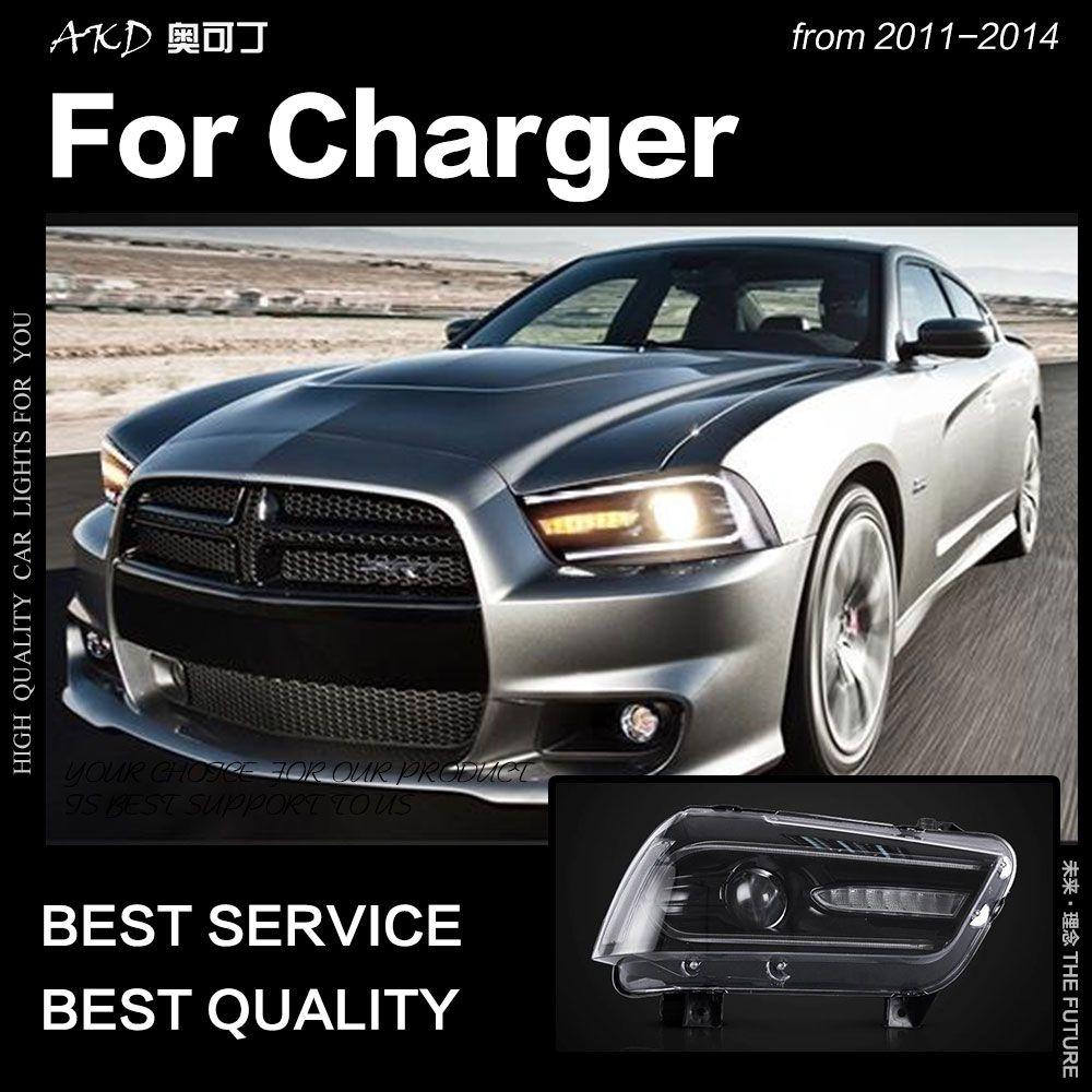 AKD Auto Styling für Dodge Ladegerät Scheinwerfer 2011-2014 Ladegerät LED Scheinwerfer Dynamische Signal Led Drl Bi Xenon Auto zubehör