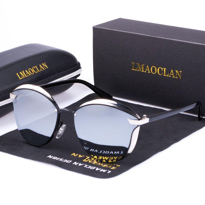 LMAOCLAN femmes lunettes de soleil polarisées luxe mode oeil de chat dames Vintage marque Designer femme lunettes de soleil oculos gafas