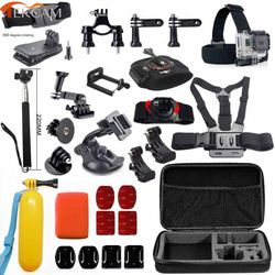 Tekcam for gopro hero 6 accessories set for gopro Hero 5 hero5 session hero4 xiaomi yi 4k+ SJCAM SJ6 Legend sj5000 action camera