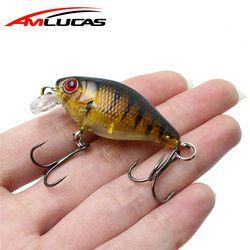 Amlucas Ikan Kecil Umpan 45 Mm 4.4G Crankbait Hard Umpan Topwater Buatan Wobblers Bass Carp Memancing Aksesoris WE304