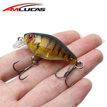 Amlucas Minnow Fishing Lure 45mm 4.4g Crankbait Hard Bait Topwater artificial Wobblers Bass carp fishing Accessories WE304
