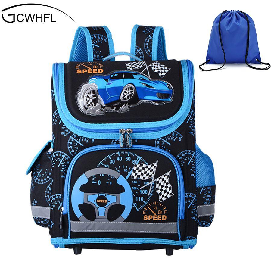 New 2017 Boys Schoolbags Kids Satchel Child School Backpack EVA Folded Orthopedic Children School Bags For Boys Mochila Infantil