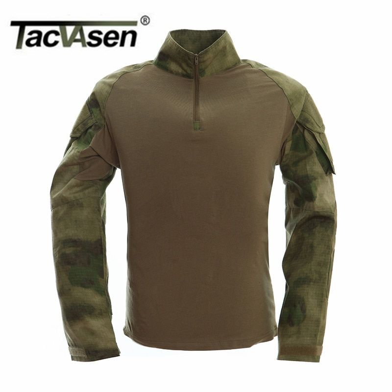 TACVASEN New Autumn Winter Soldier T-shirts Army Combat Tactical T Shirt Military Men Long Sleeve T-Shirts Clothes WHFE-022