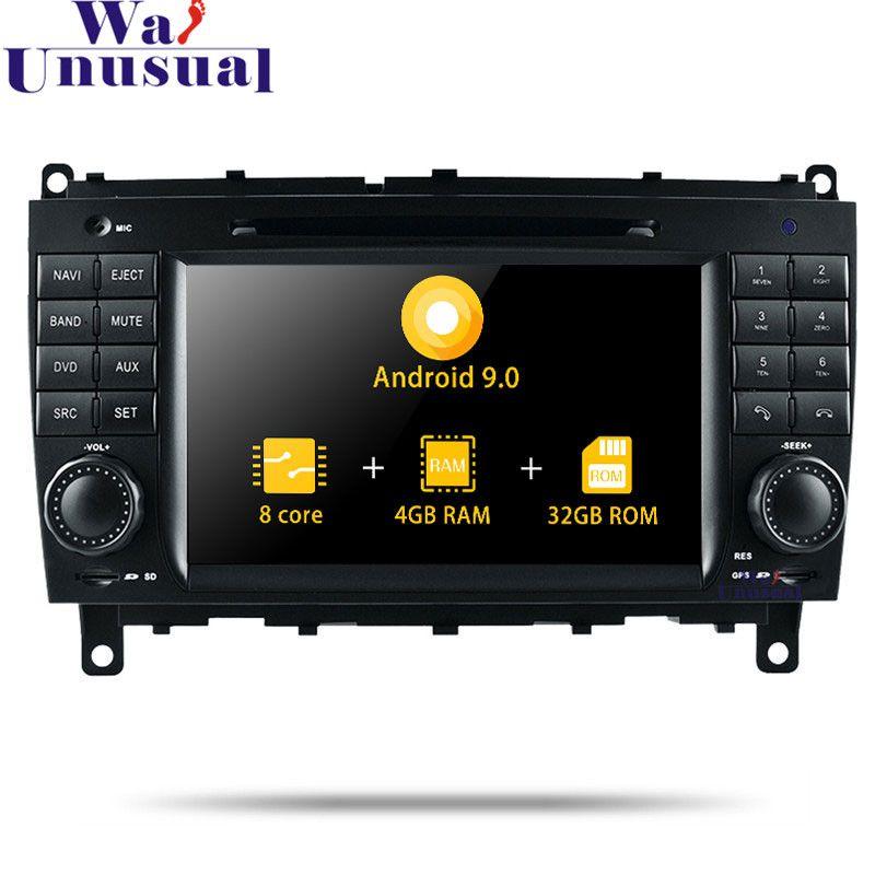7 ''Octa Core 32G Android 9.0 Auto Multimedia-Player Für Benz CLK W209 (2006-2011) /CLS W219 (2006-2008) mit GPS + BT + WIFI 1024*600