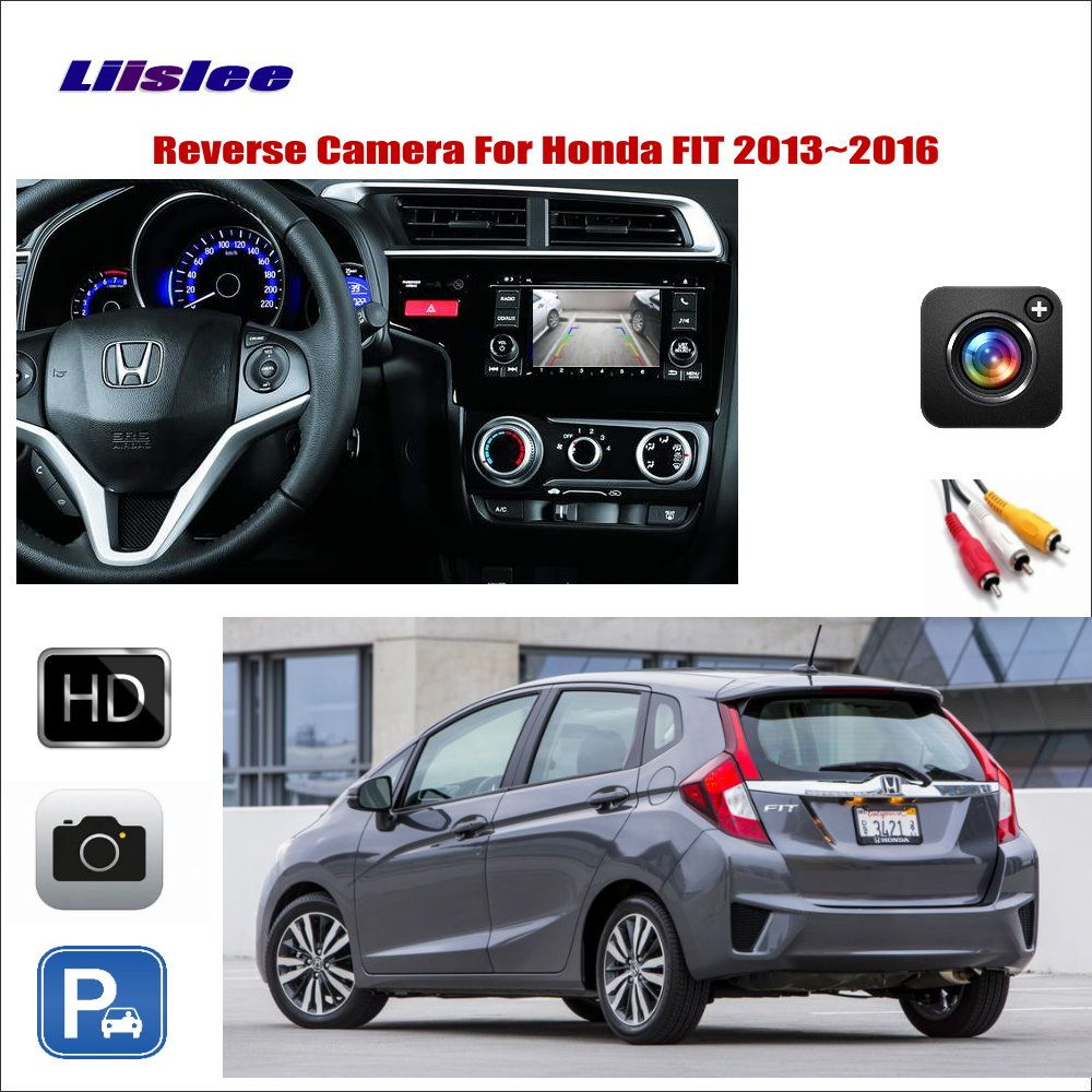 Liislee Für Honda FIT 2013 ~ 2016 Auto Reverse Rückansicht Kamera/Schließen Das Ursprüngliche Fabrik Bildschirm/RCA adapter Stecker