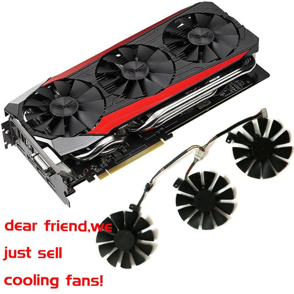 gpu VGA cooler graphics gtx1080 gtx980ti gtx1060 gtx1070 fan for ASUS STRIX GTX 1080/980Ti/1060/1070 Video cards cooling system