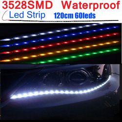 30 cm 60 cm 90 cm 120 cm Étanche LED Bande Flexible Lumières DC12V SMD 3528 Vacances Lampada LED Lumière ruban Ruban Lampe