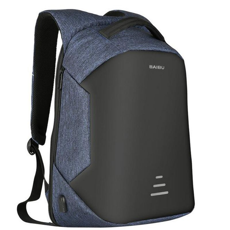 2017 Urban Backpacks Men USB Charge Laptop Backpack Minimalist Fashion Anti-theft Backpack Casual Mochila Waterproof Travel Bag