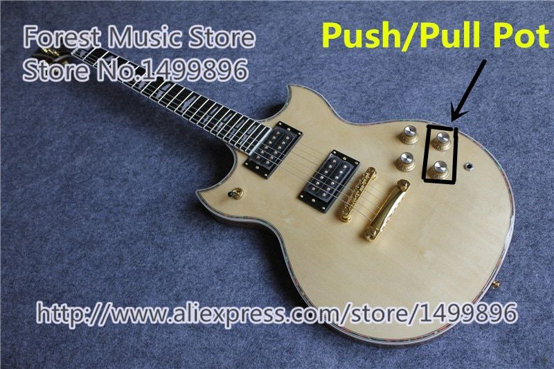 New Arrival Nature Wood Finish SG Custom Electric Guitars Chinese OEM Push/Pull Pot Guitar For Sale