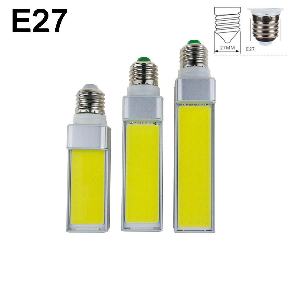 LED Ampoules 7 W 9 W 12 W E27 G24 G23 E14 220 V/110 V LED maïs Ampoule Lampe Lumière COB Spotlight 180 Degrés AC85-265V Horizontal Plug lumière