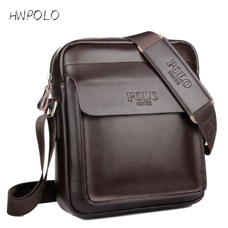 Yirenfang 2018 Fashion Men Messenger Bag Men Leather Shoulder Bag Designer <font><b>Famous</b></font> Brand Business Briefcase Crossbody Bag For Men