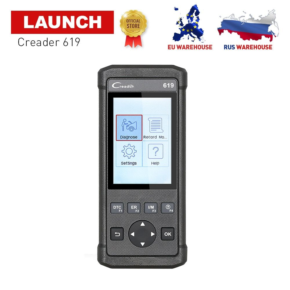 LAUNCH X431 CReader 619 OBD2 OBDII Car Diagnostic Scan Tool Support ABS/SRS Systems CR619 OBD 2 Scanner Same as Creader 6011