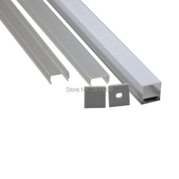 10 X 1M Sets/Lot U style Anodized LED tape strip profile with plate AL6063 Aluminium led channel profile for ceiling lights