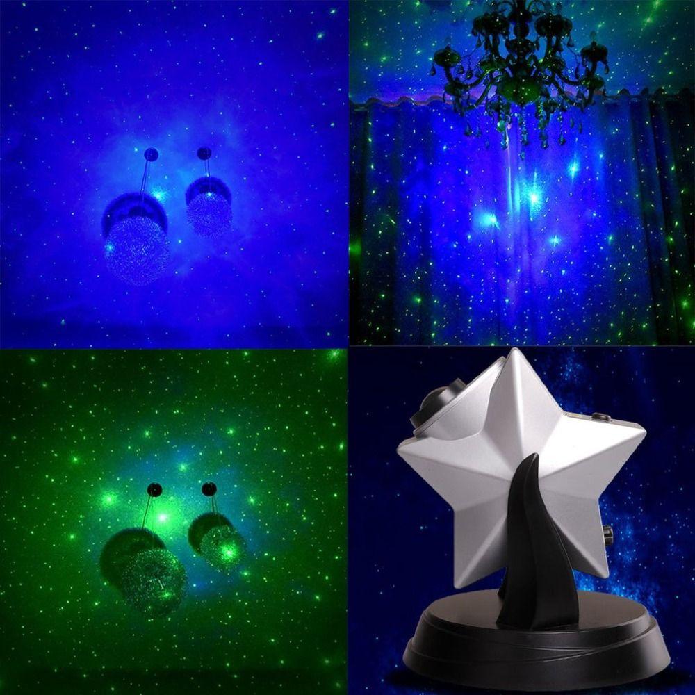 Popular Stars Twilight Sky Novelty Night Light Projector Lamp LED Laser Light Dimmable Flashing Atmosphere Bedroom EU/UK/AU Plug