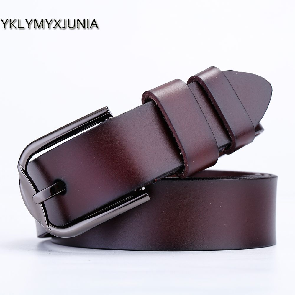 Women's Genuine Leather Belts High Quality Leather Brand Female Strap women wide Waistband 2018 red \black color leather Goods
