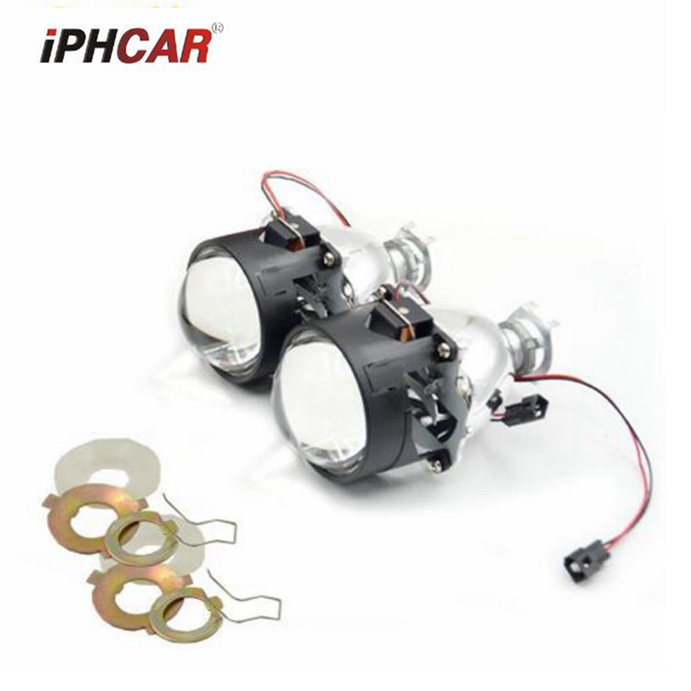 2.5inch bixenon hid car Projector lens fit for H1 H4 H7 caf headlight Headlamp car assembly kit free shipping