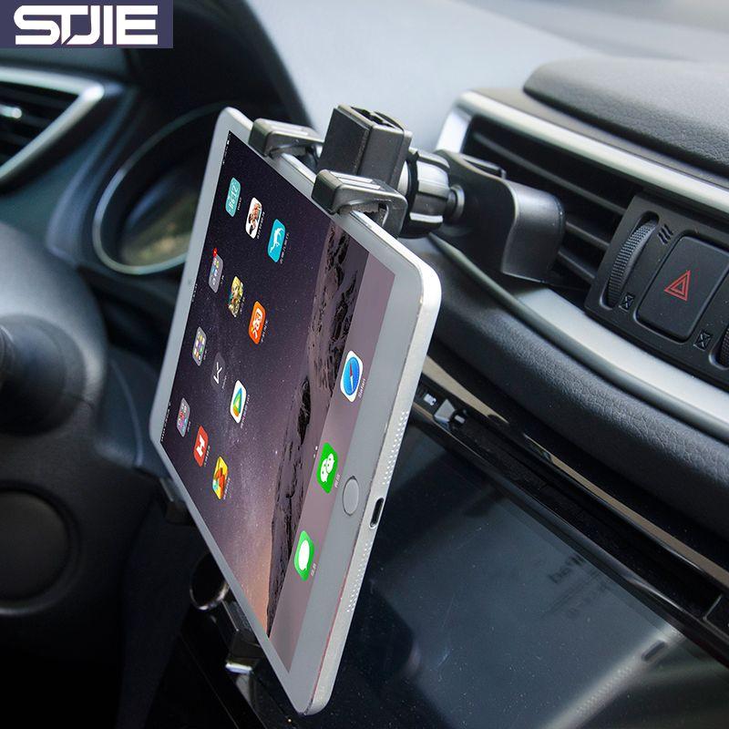 STJIE universel de voiture support de téléphone de voiture CD slot et air vent mobile stand pour smartphone téléphone portable et 7 ~ 8 pouce tablet mount holder