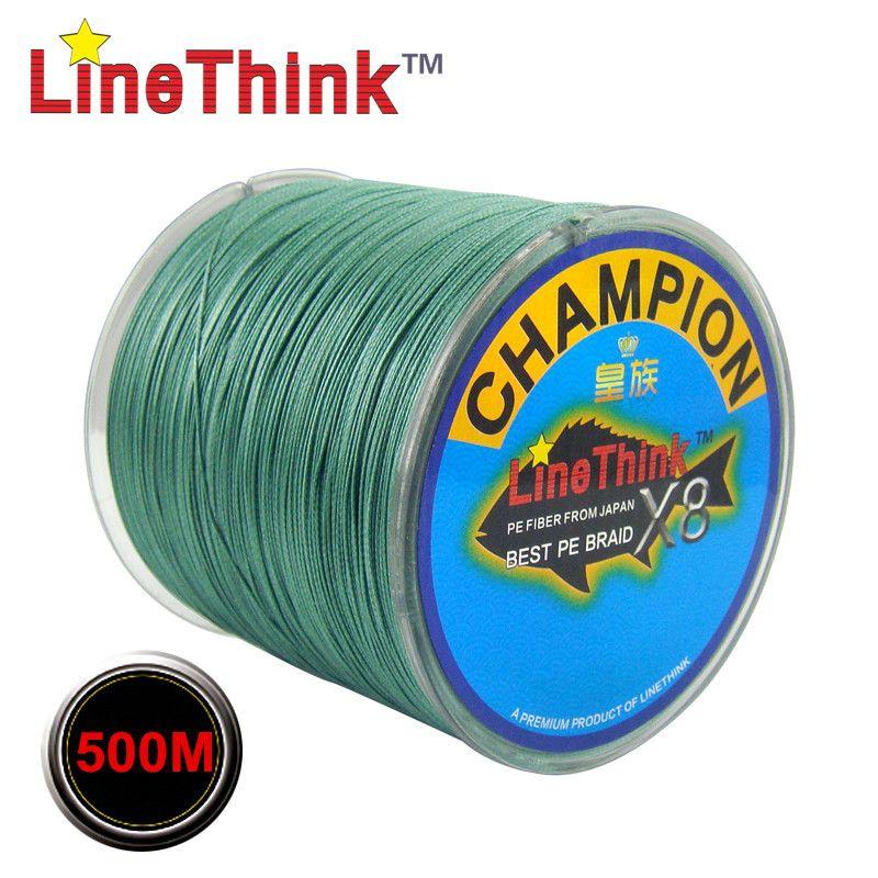 500 M GHAMPION LineThink marque 8 brins/8 tissage meilleure qualité Multifilament PE tressé ligne de pêche tresse livraison gratuite