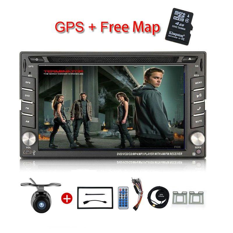 Neue universal Auto Radio Doppel 2 Din Auto DVD Player GPS Navigation In dash Auto PC Stereo Head Unit video + freies Karte subwoofer