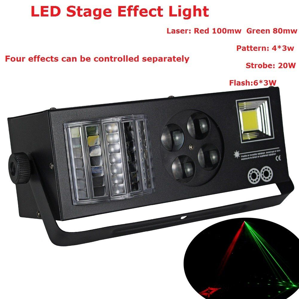 2017 Newest DJ Disco Party Wedding Entertainment Stage Lights High Quality 4X3W Spot Stage Effect Lighting With 9 DMX Channel
