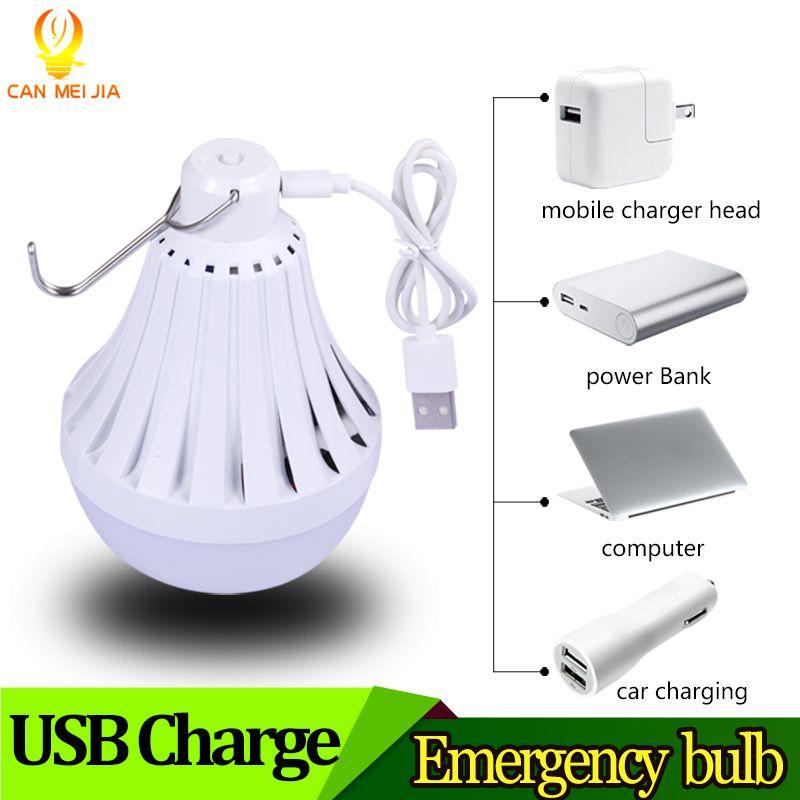 Lumière de Ampoule LED rechargeable USB E27 Lampadas 220 V 12 W 20 W 30 W 40 W Ampoule de secours intelligente LED éclairage extérieur pour Camp de pêche