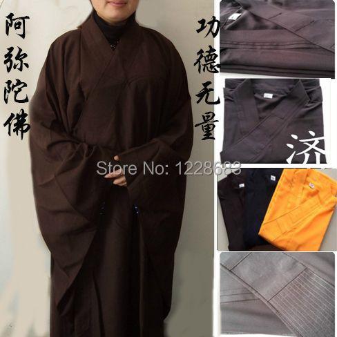 Chinos Tradicionales para niños Largos Ropa de Monje Shaolin Kung Fu Batas Uniformes Traje de Monje Budista