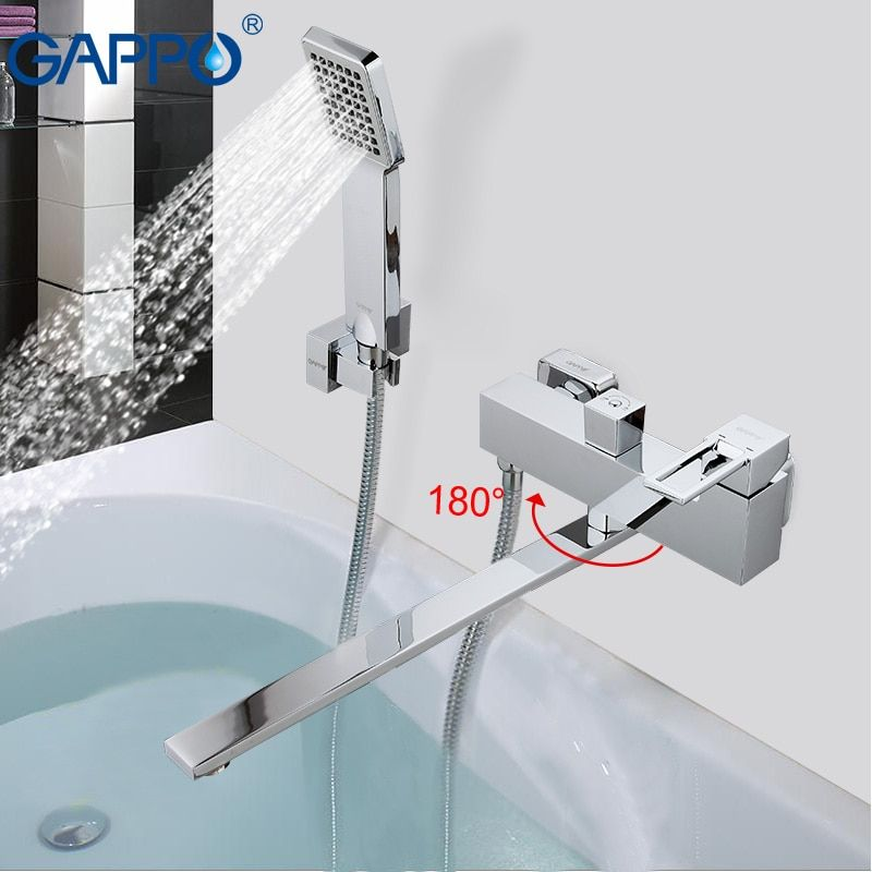 GAPPO Bathtub faucet waterfall faucet mixer bathroom faucet taps wall mounted Brass bathtub mixer bath mixer sink faucet GA2240