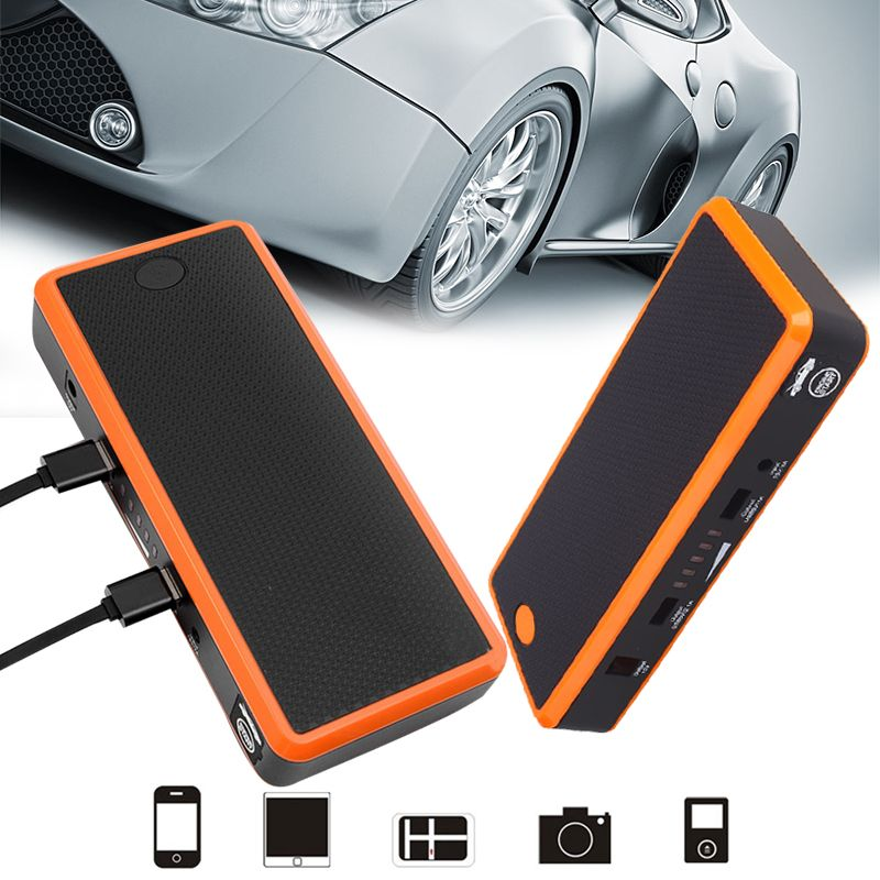 VEHEMO 1A USB Car Battery Charger Booster Car Jump Starter Supplies Kit LED Power Supply Bank Emergency Charging Kit