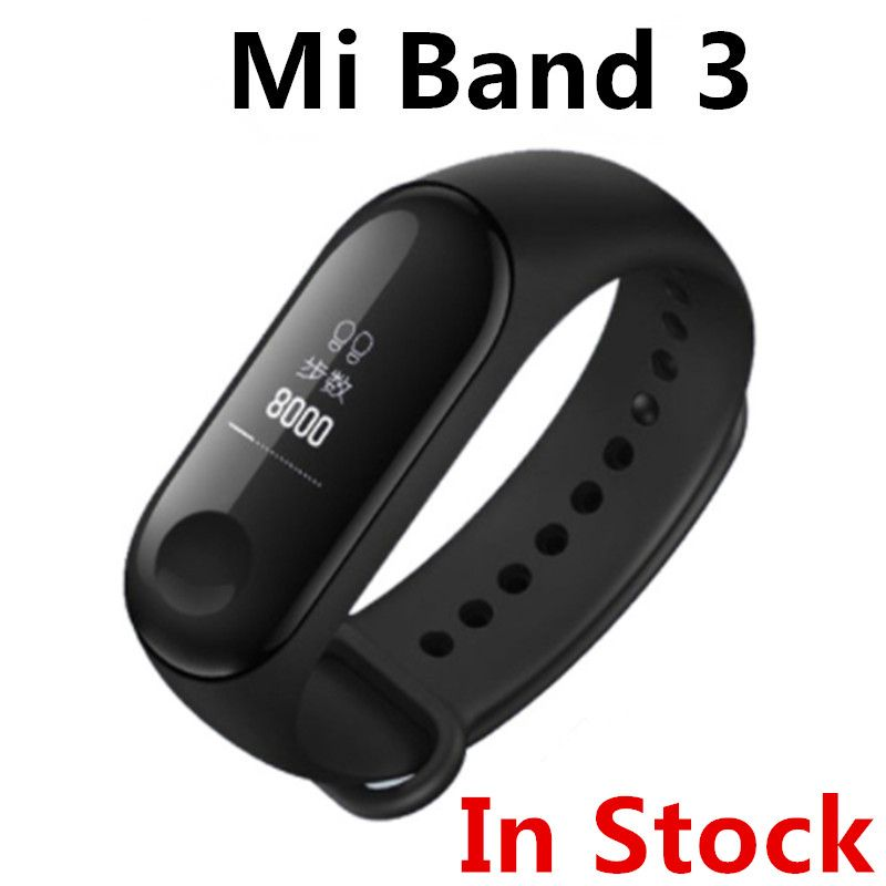 (In Stock) 2018 New Original Xiaomi Mi Band 3 Smart Band Mi band 3 Smart Bracelet Watch OLED Display Mi band 2 Upgrade Version