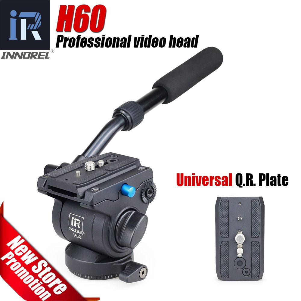 H60 Panoramic tripod head Hydraulic fluid video head for monopod slider Photography Hydraulic Head Three-dimensional Tripod Head